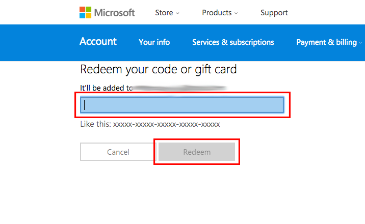 Redeem a code or gift card
