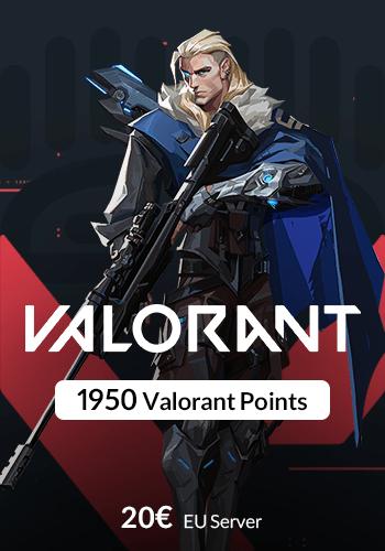 گیم کارت 1950 Valorant Points سرور EU