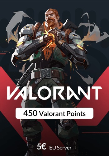 گیم کارت 450 Valorant Points سرور EU