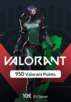 گیم کارت 950 Valorant Points سرور EU